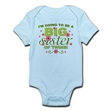 Big Sister To Be Twins Infant Bodysuit