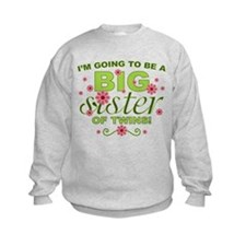 Big Sister To Be Twins Sweatshirt