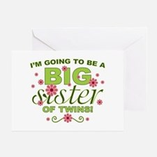 Big Sister To Be Twins Greeting Card