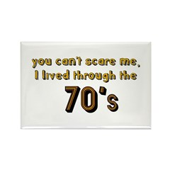 you can't scare me..70's Rectangle Magnet