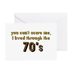 you can't scare me..70's Greeting Cards (Pk of 20)