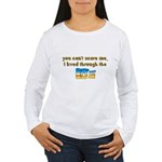 you can't scare me..80's Women's Long Sleeve T-Shi