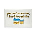 you can't scare me..80's Rectangle Magnet (10 pack