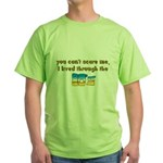 you can't scare me..80's Green T-Shirt
