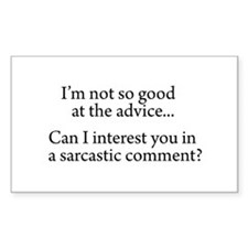not so good at the advice Sticker (Rectangle 10 pk