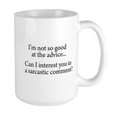not so good at the advice Large Mug