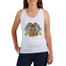Fierce Siberian Tiger Crest Women's Tank Top