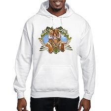 Fierce Siberian Tiger Crest Hoodie