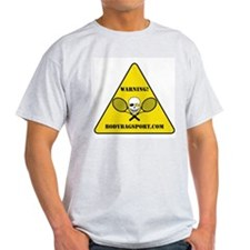 Tennis Warning Ash Grey T-Shirt