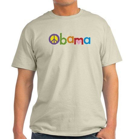 Peace, Love, Obama Light T-Shirt