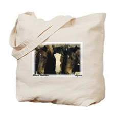 Paint, Bay and Chestnut Horses, Tote Bag, elpace