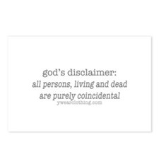 God's Disclaimer Postcards (Package of 8)