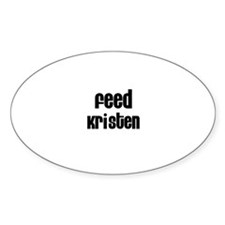 Feed Kristen Oval Decal
