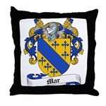 Mar Family Crest Throw Pillow