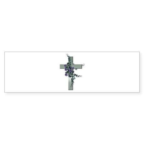 Emerald Cross Bumper Sticker