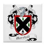 Marshall Family Crest Tile Coaster