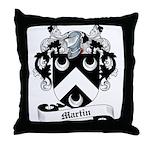 Martin Family Crest Throw Pillow