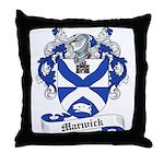 Marwick Family Crest Throw Pillow