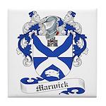 Marwick Family Crest Tile Coaster