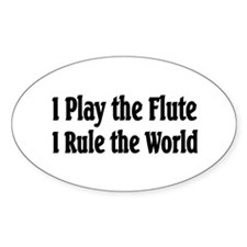 Flute Oval Decal