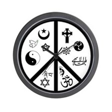 Peaceful Coexistence Wall Clock