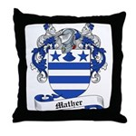 Mather Family Crest Throw Pillow