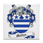 Mather Family Crest Tile Coaster