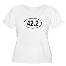 42.2 Womens Plus-Size Scoop Neck T