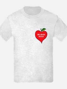 Heart Apple 3rd Grade Rocks T-Shirt