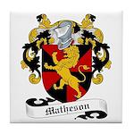 Matheson Family Crest Tile Coaster