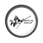 Where's My Hose At? Wall Clock