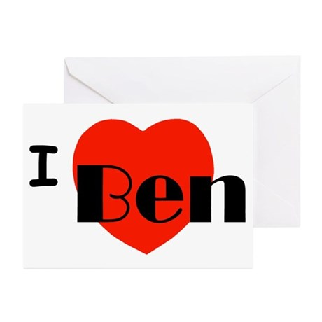 I Love Ben Greeting Cards (Pk of 10)