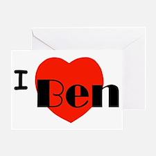 I Love Ben Greeting Card