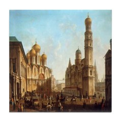 Cathedral Square Moscow Tile Coaster