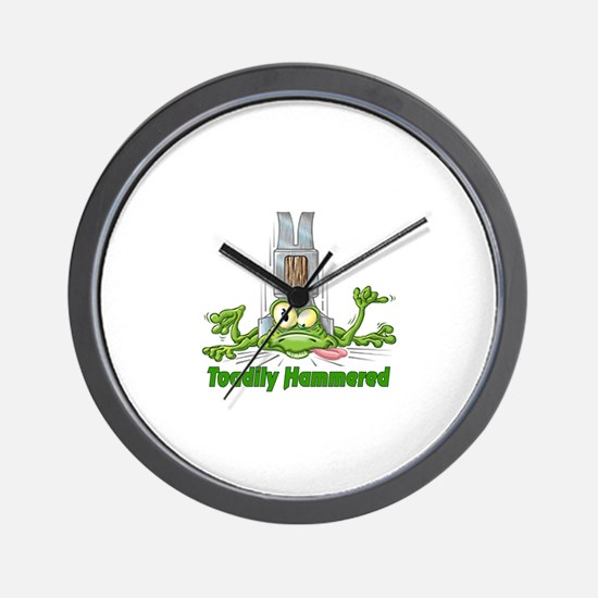 Toadily Hammered Wall Clock
