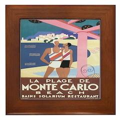 Monte Carlo Art Deco Framed Tile