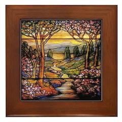 Tiffany Landscape Framed Tile