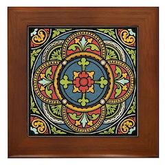 Rosette Framed Tile