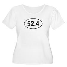 52.4 Womens Plus-Size Scoop Neck T