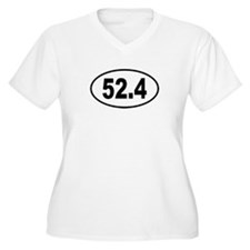 52.4 Womes Plus-Size V-Neck T-Shirt