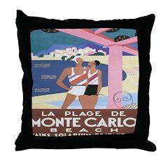 Monte Carlo Art Deco Throw Pillow