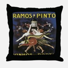 Portugal Wine Vintage Throw Pillow