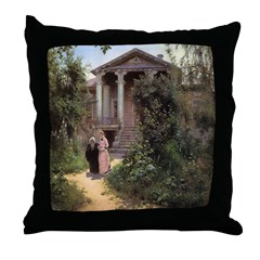 Grandmother's Garden Throw Pillow