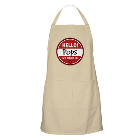 Hello my name is Pops BBQ Apron