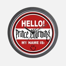 Hello my name is Prince Charming Wall Clock