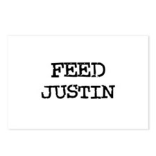 Feed Justin Postcards (Package of 8)