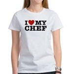 I Love My Chef Women's T-Shirt