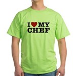 I Love My Chef Green T-Shirt