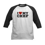 I Love My Chef Kids Baseball Jersey