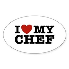 I Love My Chef Oval Decal